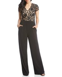 8eb41e431b15 Lyst - Sea Contrast Denim Jumpsuit in White