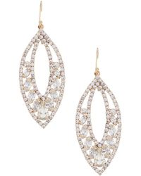 Belle By Badgley Mischka - Leaf Earrings - Lyst
