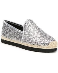 689214d735f Lyst - Michael Michael Kors Glitter Embroidered Cableknit Slippers ...