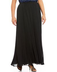 Alex Evenings - Plus Size Long Pleated Chiffon Skirt - Lyst