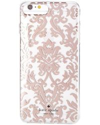 Kate Spade - Rose Gold Tapestry Iphone 7 Plus/8 Plus Case - Lyst
