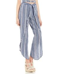 Roxy - Jessa Striped High Waist Pants - Lyst