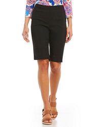 Ruby Rd. - Solid Pull-on Solar Millenium Tech Stretch Bermuda Shorts - Lyst