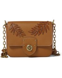 Lauren by Ralph Lauren - Leaf-applique Chain Cross-body Bag - Lyst