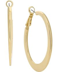 Kenneth Cole - Knife-edge Hoop Earrings - Lyst