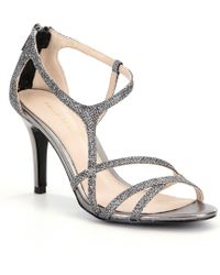 Pelle Moda - Ruby Metallic Strappy Dress Sandals - Lyst