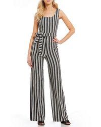 Karl Lagerfeld - Karl Lagerfeld Sleeveless Striped Jumpsuit - Lyst