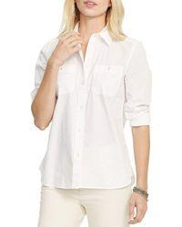 Lauren by Ralph Lauren - Long-sleeve Cotton Broadcloth Shirt - Lyst