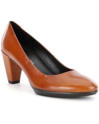 Ecco - Shape 55 Plateau Calf Leather Pumps - Lyst