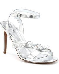 MICHAEL Michael Kors - Tricia Floral Applique Strappy Dress Sandals - Lyst