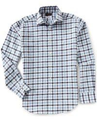 Thomas Dean | Big & Tall Gingham Long-sleeve Woven Shirt | Lyst