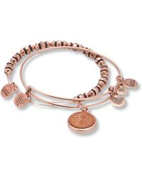 ALEX AND ANI - Path Life Wood Charm Bangle Bracelet - Lyst