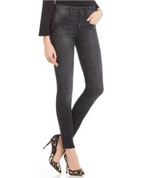 Guess - Chevron 1981 High Rise Skinny Jeans - Lyst