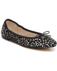 Felicia Leopard-Print Calf Hair Flats T2HxfHV
