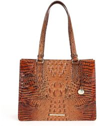 Brahmin - Toasted Almond Collection Medium Camille Tote - Lyst