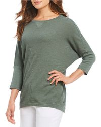 Calvin Klein - Performance Textured Knit 3/4 Sleeve Tunic - Lyst