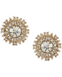 Marchesa - Round Button Earrings - Lyst