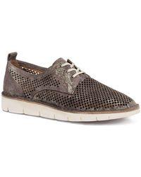 Trask - Lena Metallic Suede Sneakers - Lyst