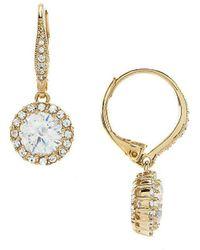Nadri | Framed Cz Drop Earrings | Lyst