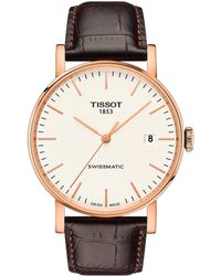 Tissot - Everytime Swissmatic Leather-strap Watch - Lyst