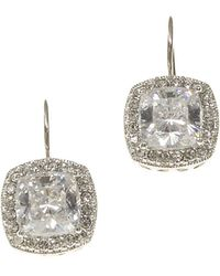 Nadri - Framed Cushion-cut Cz Drop Earrings - Lyst
