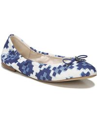 Felicia Printed Weave Ballet Flats 8ML09x