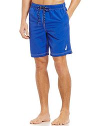 Nautica - Quick Dry Nylon Swim Trunks - Lyst