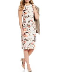 1273a3e1ec Antonio Melani - Jadie Floral Print Sleeveless Midi Dress - Lyst