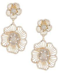 Belle By Badgley Mischka - Floral Glitz Chandelier Earrings - Lyst