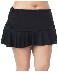24th & Ocean - Plus Solid Ruffle Hem Skirted Swimsuit Bottom - Lyst