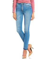 Guess - High Rise Authentic 1981 Raw Edge Skinny Jeans - Lyst