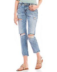 Silver Jeans Co. - Sam Boyfriend Destructed Ankle Jeans - Lyst