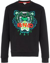 01e529281 KENZO - Tiger Embroidery Sweatshirt - Lyst