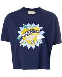 Maison Kitsuné - Embroidered Lemon T-shirt - Lyst