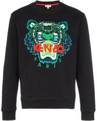 KENZO - Felpa Ricamo Tigre - Lyst