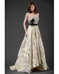608a305fc4 Lyst - Gemy Maalouf Beside Couture By Gemy Sleeveless Evening Gown ...