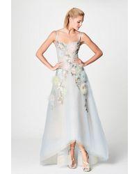 Marchesa notte - Light Blue Sleeveless High-low Gown - Lyst