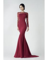 Saiid Kobeisy - Sk By Long Sleeve Evening Gown - Lyst