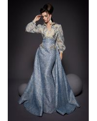 2e7378f151f Stella McCartney One Side Long Cape Belted Jersey Evening Gown in ...
