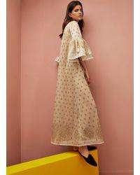 e3a49678ad Lyst - Equipment  marta  Leopard Print Silk   Cashmere Knit Dress in ...