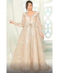 a9d6c1a227 District 5 Boutique · Fouad Sarkis - For Mnm Couture Long Sleeve Gown - Lyst