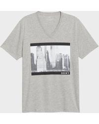 DKNY - Billboard V-neck Tee - Lyst