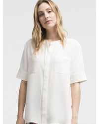 DKNY - Short Sleeve Button Up - Lyst