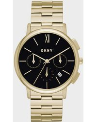 DKNY - Willoughby Gold-tone Chronograph Watch - Lyst