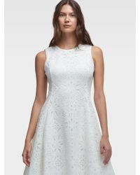 DKNY - Laser-cut Fit-and-flare Dress - Lyst