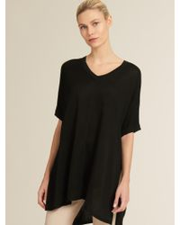 DKNY - V-neck Pullover With Side Slits - Lyst