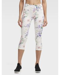 DKNY - Blossom High-waisted Cropped Tight - Lyst