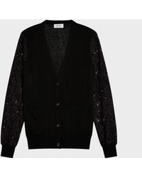 DKNY - V-neck Cardi With Buttons - Lyst