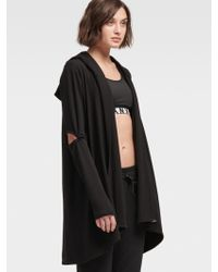 DKNY - Open-front Cardigan Hoodie - Lyst