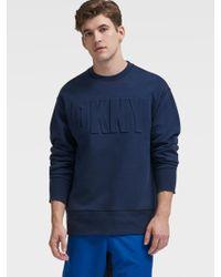 DKNY - Embossed Logo Sweatshirt - Lyst